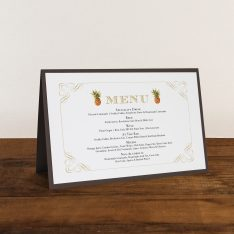 Pineapple Paradise Tented Menu Cards