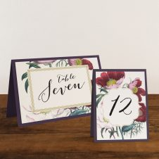Floral Boho Tented Table Numbers