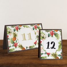 Pineapple Paradise Tented Table Numbers