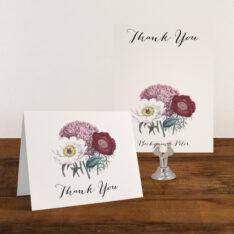 Floral Boho Thank You Card