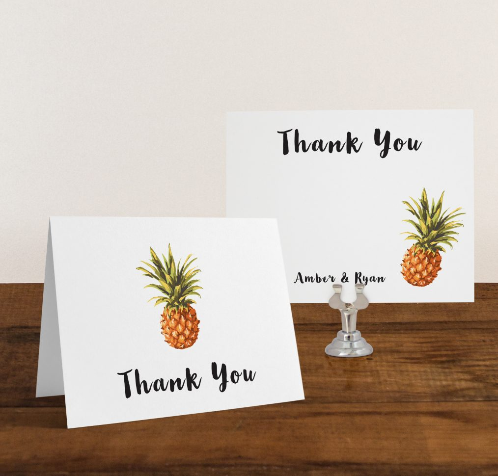 Pineapple Paradise Thank You Cards