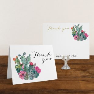 Desert Blooms Thank You Cards