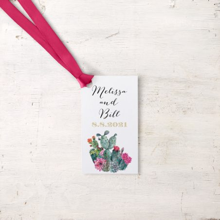 Desert Blooms Favor Tags