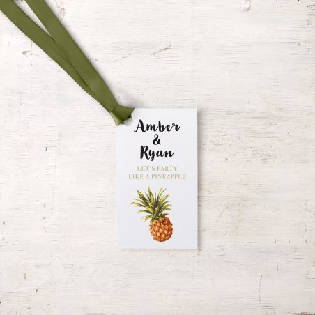 Pineapple Paradise Favor Tags