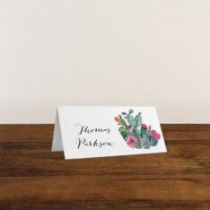 Desert Blooms Place Cards