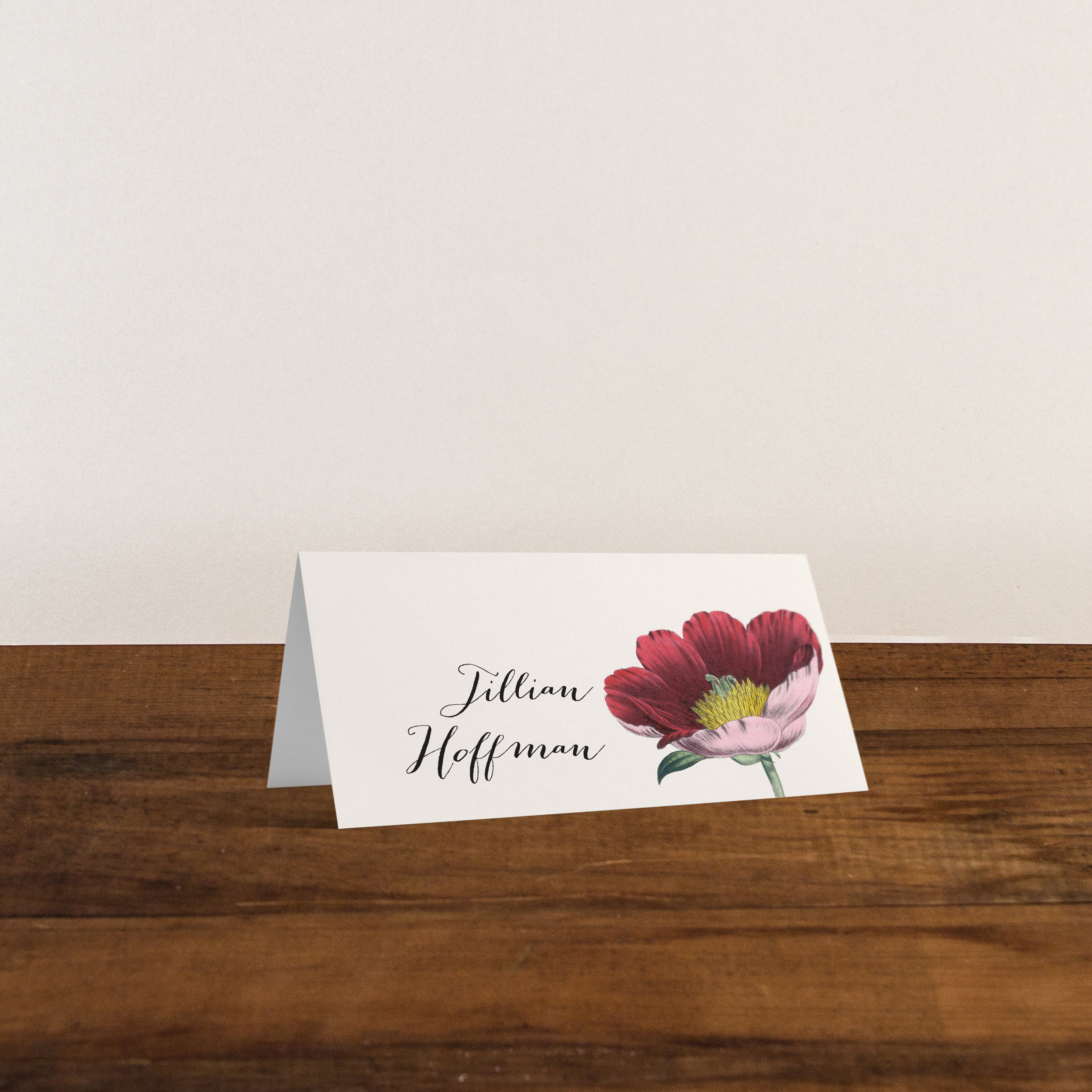 Floral Boho Personalized Tented Or Flat Wedding Place Cards Beacon