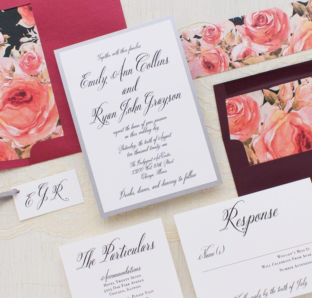 Blush Petals Wedding Invitation