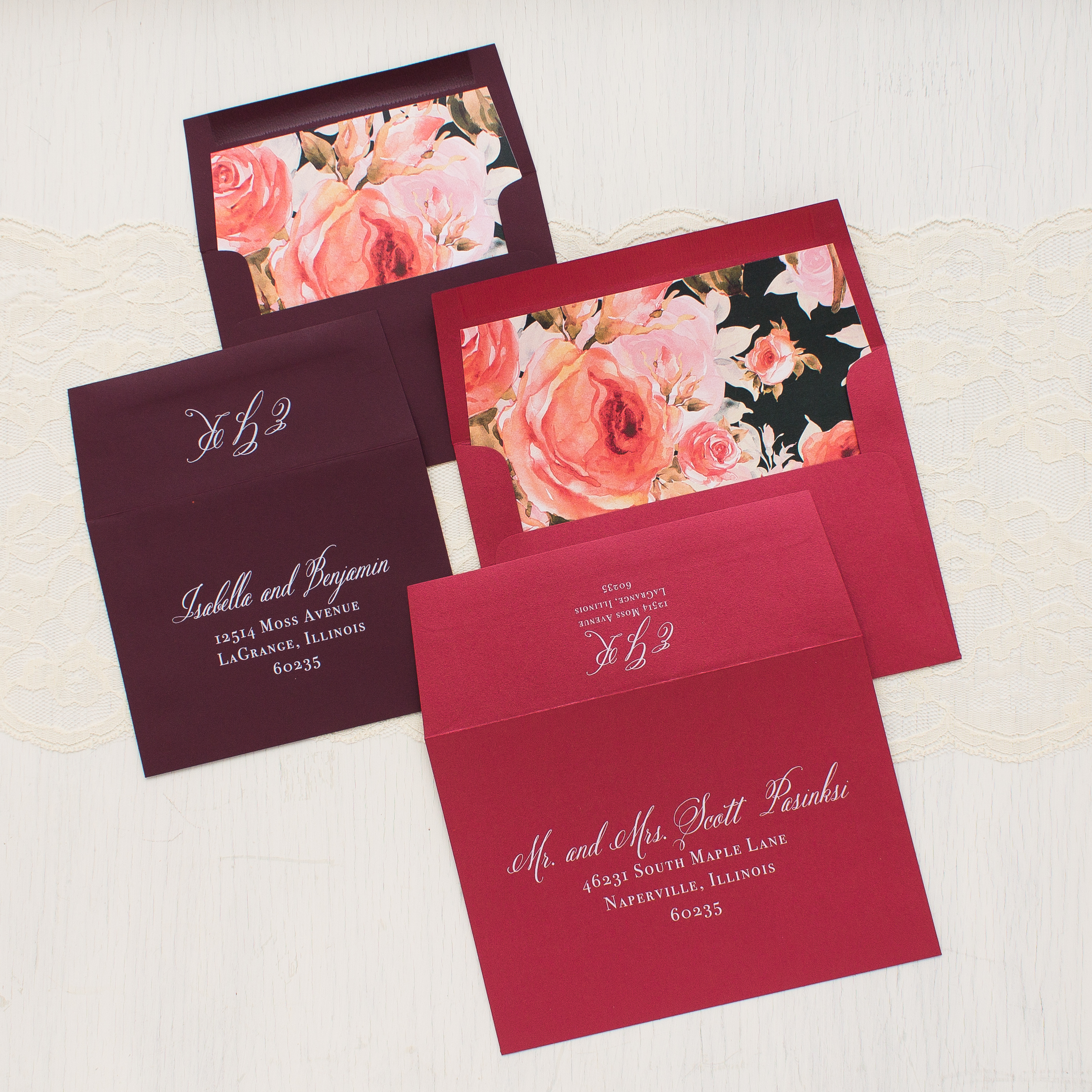 Blush Petals Wedding Invitations | Beacon Lane