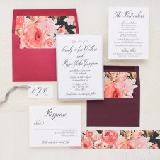 Blush Petals Wedding Invitation