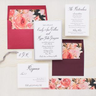 Blush Petals Wedding Invitations