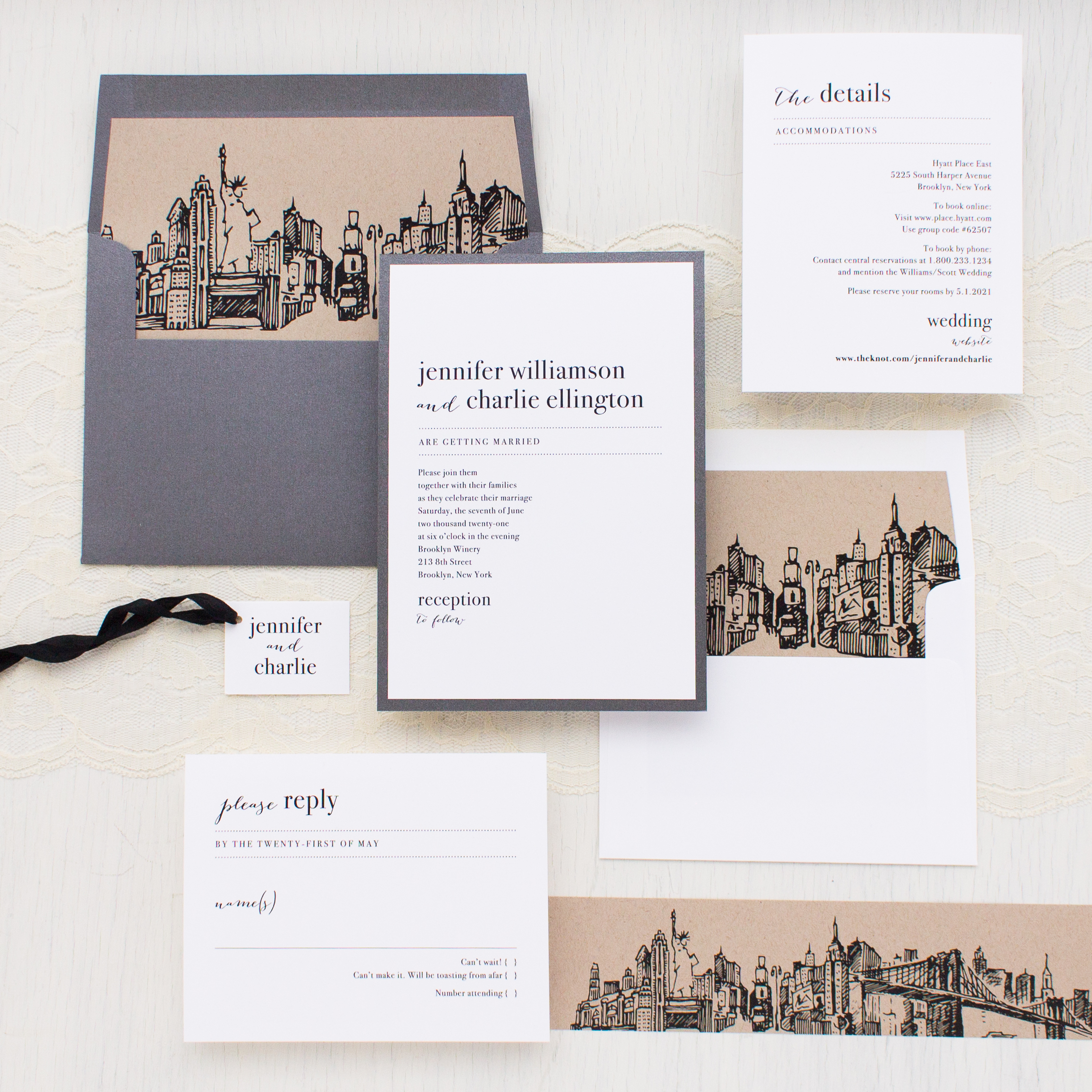 City Skyline Wedding Invitations Beacon Lane Wedding Invitations