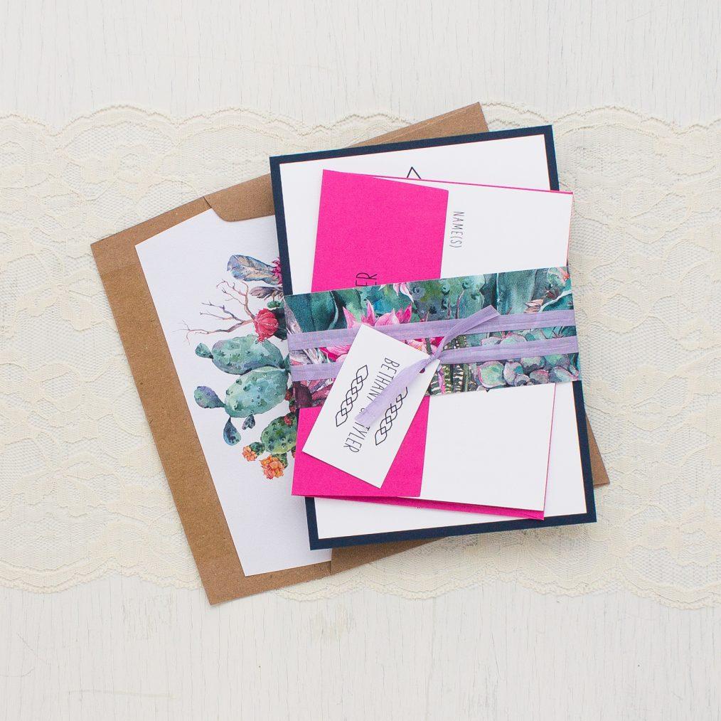 Desert Blooms #2 Wedding Invitations