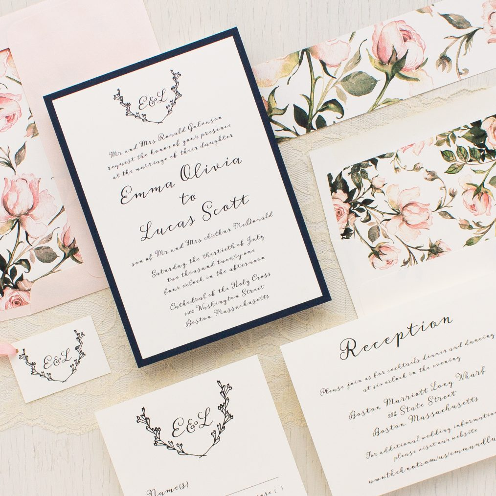 Garden Roses Wedding Invitations