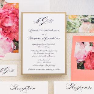 Pink Petals Wedding Invitations