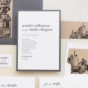 City Skyline Wedding Invitations