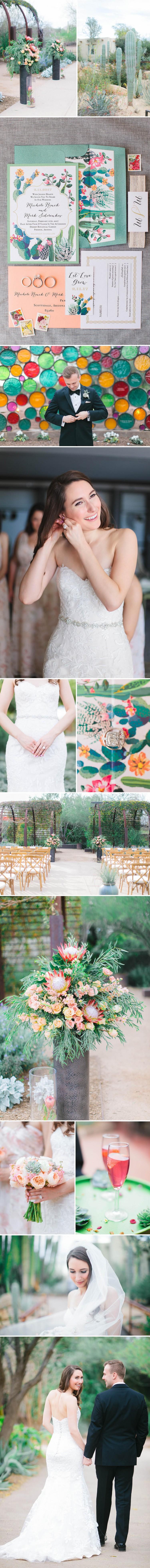 Desert Cactus Garden Wedding | Beacon Lane Real Wedding