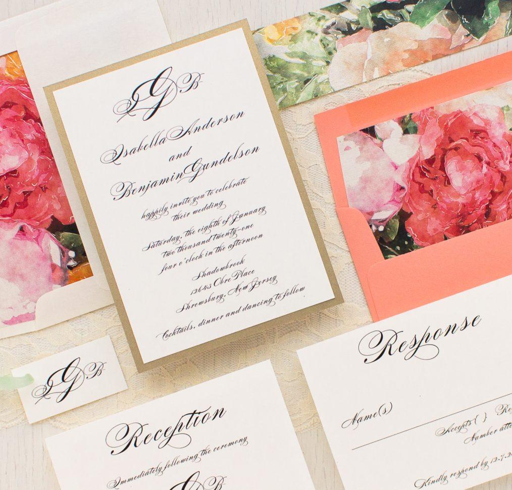 Pink Petals Wedding Invitation