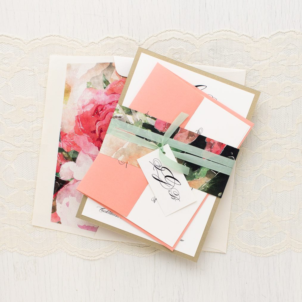 Pink Petals Wedding Invitation