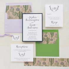 Sage Cactus Wedding Invitations