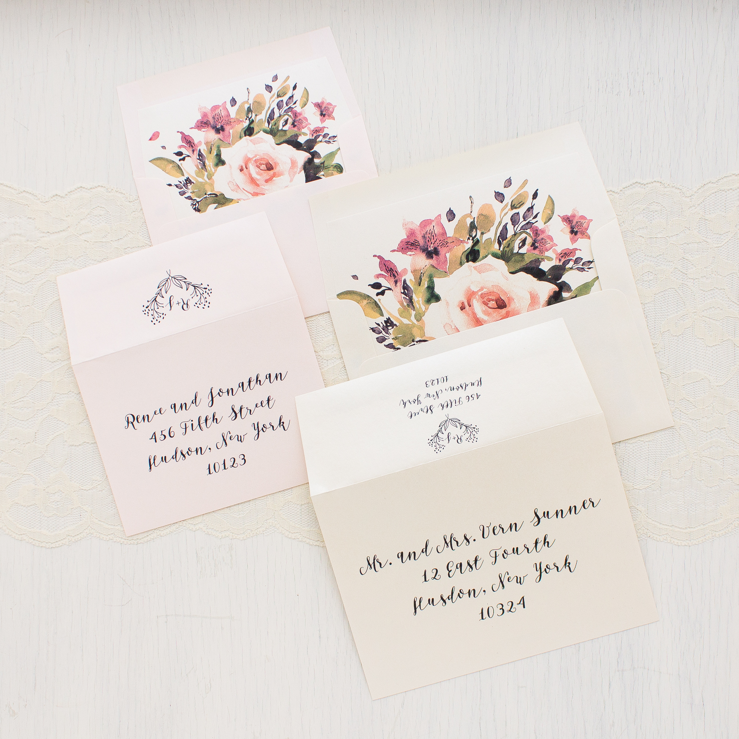 Wedding Invitations Rose: Soft Roses Wedding Invitations