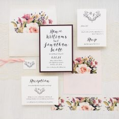 Soft Roses Wedding Invitations