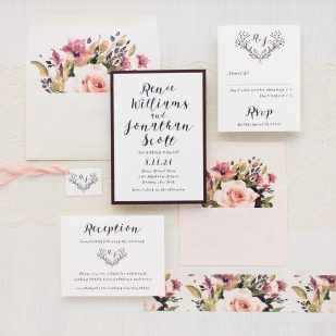 Soft Roses Wedding Invitations