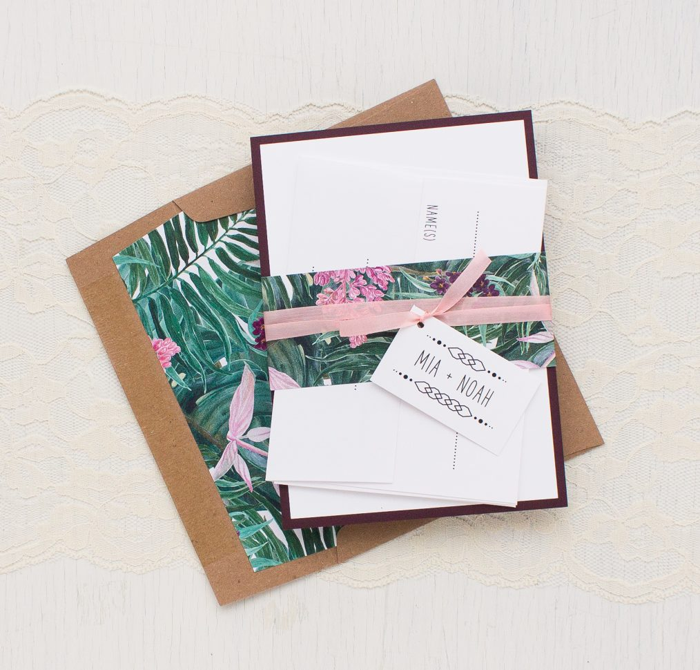 Tropical Forest Wedding Invitations