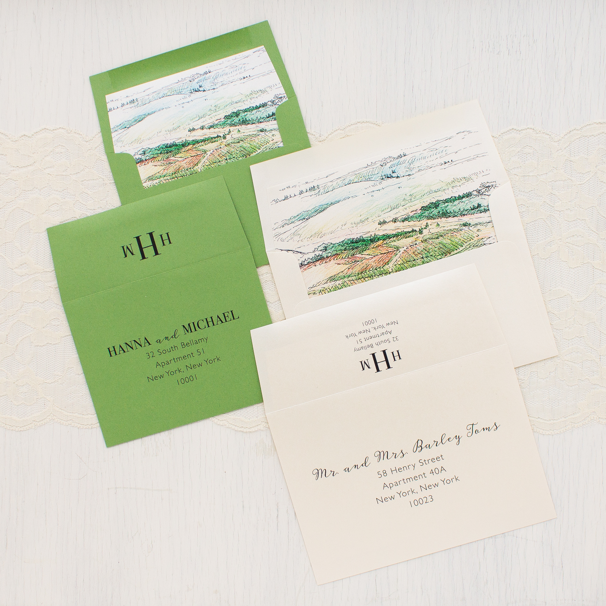 Winery Landscape Wedding Invitations