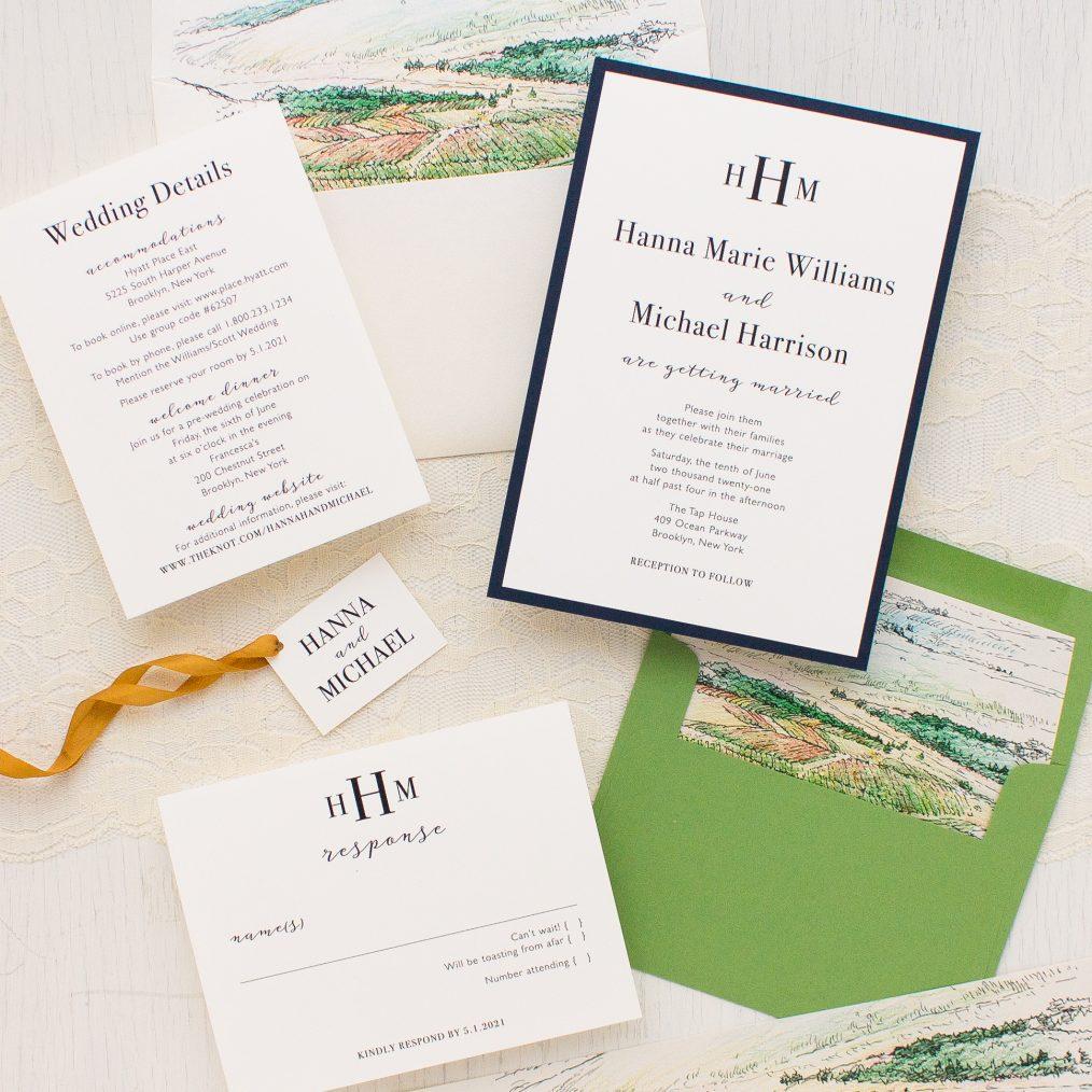 Winery Landscape Wedding Invitations