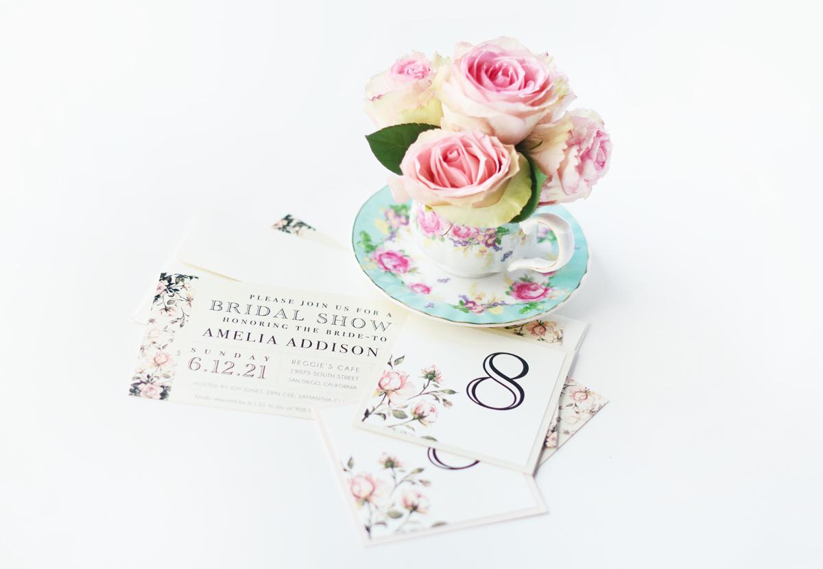 DIY Teacup Bridal Shower Bouquets