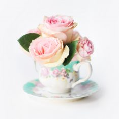 DIY Teacup Bridal Shower Bouquets