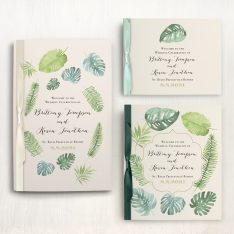 Tropical Green Ceremony Booklets