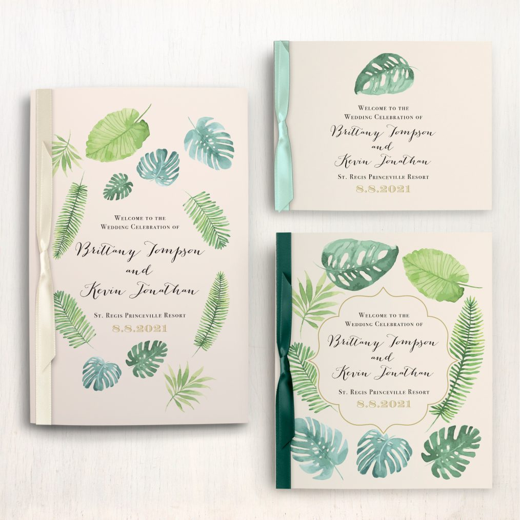 Tropical Green Ceremony Booklet