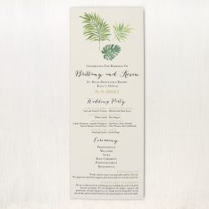 Tropical Green Flat Ceremony Card