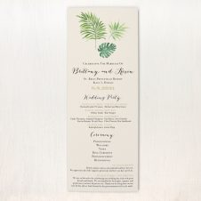 Tropical Green Flat Ceremony Programs