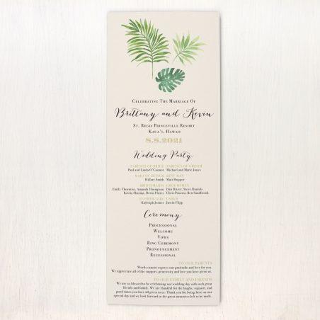 Tropical Green Flat Ceremony Programs