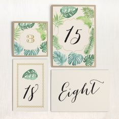 Tropical Green Flat Table Numbers