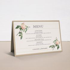 Ivory & Blush Tented Menu