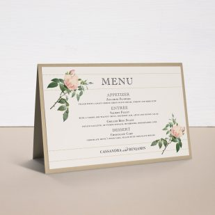 Ivory & Blush Tented Menu Cards