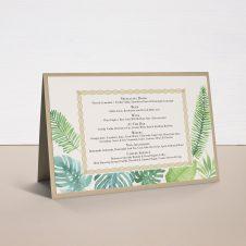 Tropical Green Tented Menu Cards