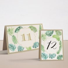 Tropical Green Tented Table Numbers