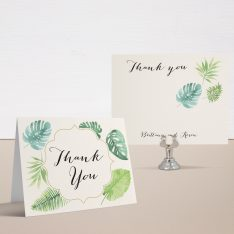 Tropical Green Thank You Cards