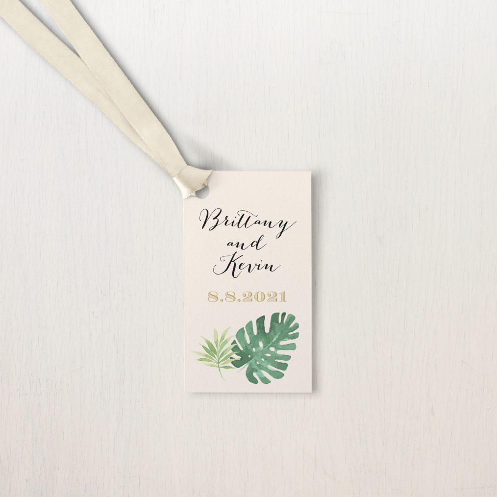 Tropical Green Favor Tags