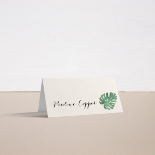 Tropical Green Place and Escort Cards