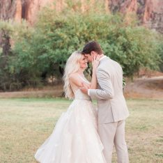 Rose Gold Desert Mountain Wedding