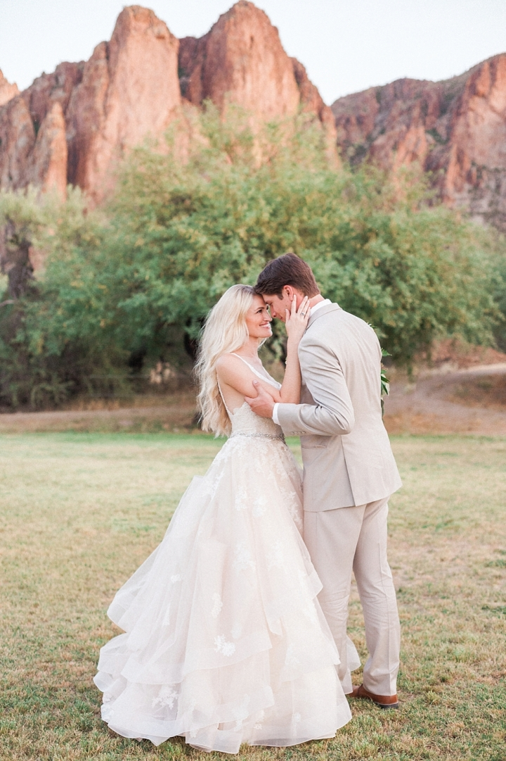 Rose Gold Desert Mountain Wedding Beacon Lane