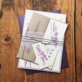 Lavender In Love Wedding Invitation by Beacon Lane