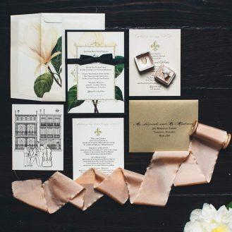 Sweet Magnolia Invitation by Beacon Lane