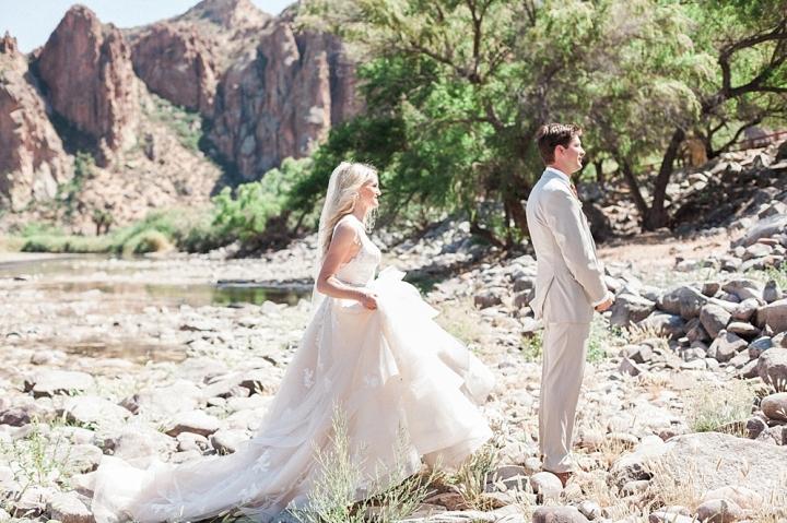 Rose Gold Desert Mountain Wedding