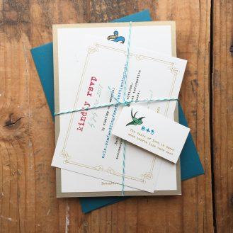 Modern Ink Custom Wedding Invitations by Beacon Lane